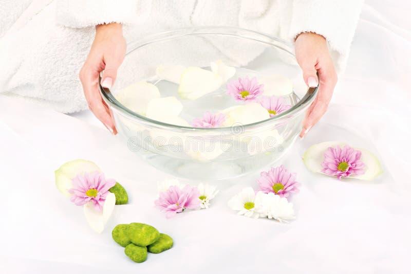 Preparing petal bath royalty free stock photo