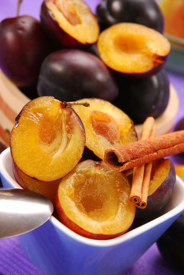 Download Preparing Preserves Of Plums Stock Photo - Image: 11027706