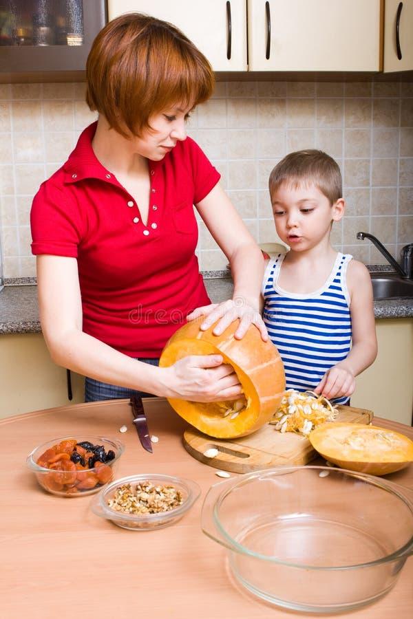Preparing pumpkin stock images