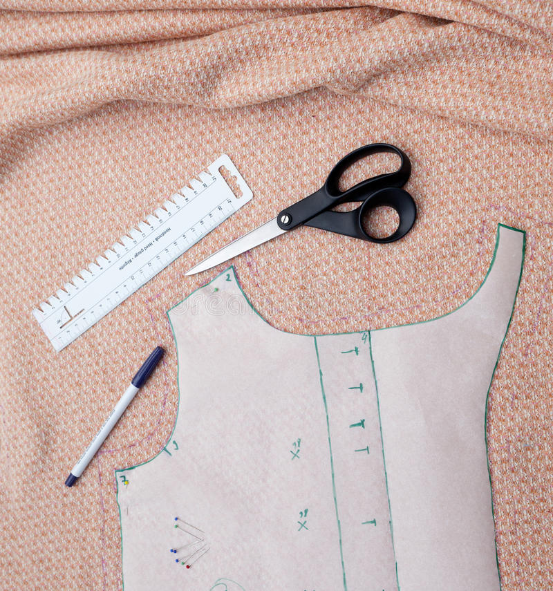 Download Preparing Tailoring stock photo. Image of prepare, ruler - 26638488