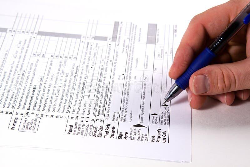 Preparing Taxes royalty free stock photos