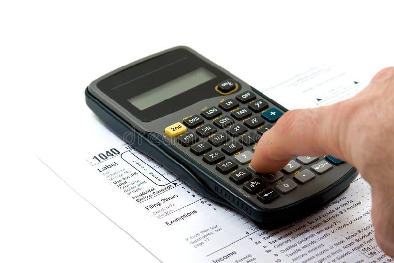 Preparing Taxes royalty free stock photo