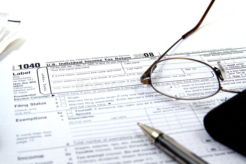 Preparing Taxes royalty free stock images