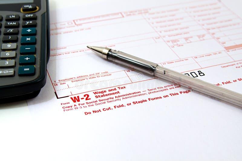 Preparing Taxes stock image