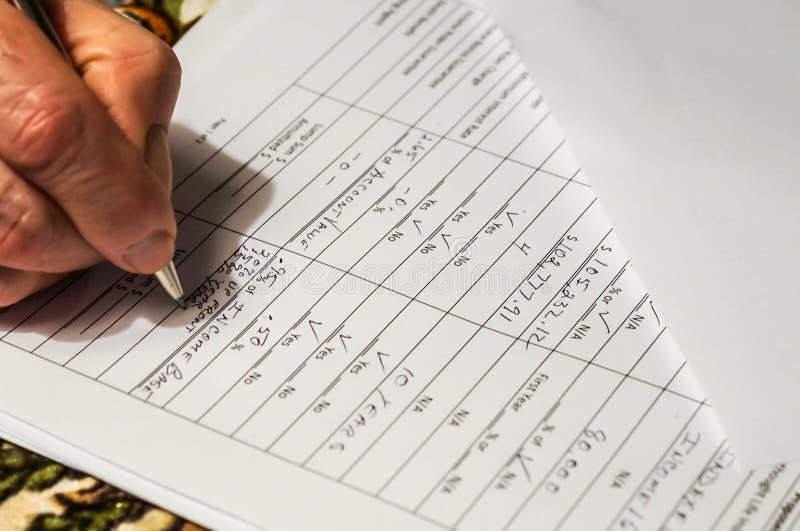 Preparing taxes royalty free stock photography