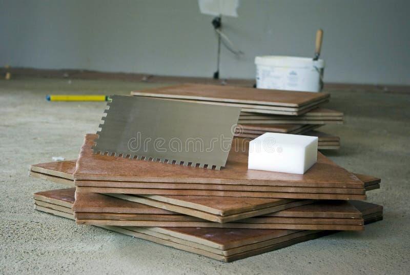 Preparing for tiling royalty free stock image