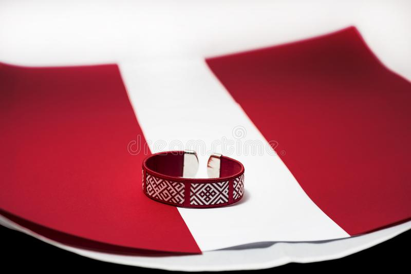 Preparing to independence day of Latvia. royalty free stock images