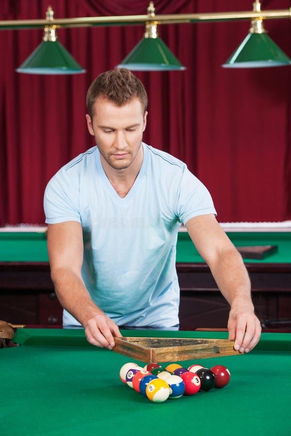 Download Preparing to pool game. stock photo. Image of human, games - 33687046