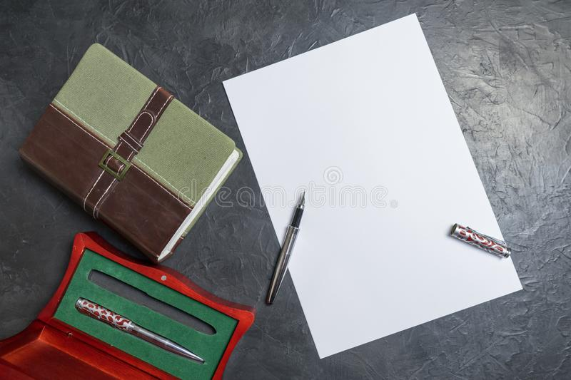 Preparing to write the will. Place for your text. stock image