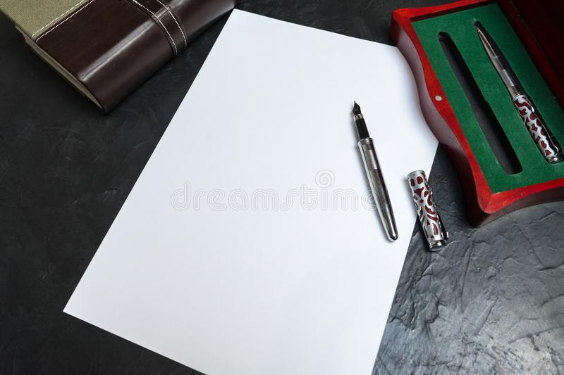 Preparing to write the will. Place for your text. royalty free stock photo