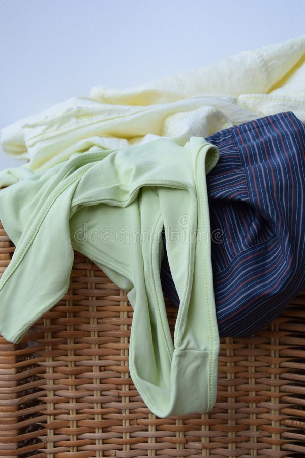 Preparing the wash. Preparing the smelled with the garments of separate color royalty free stock images