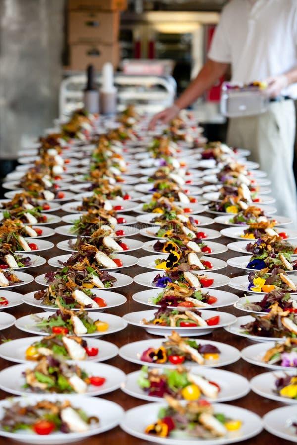 Preperation do alimento do casamento imagens de stock