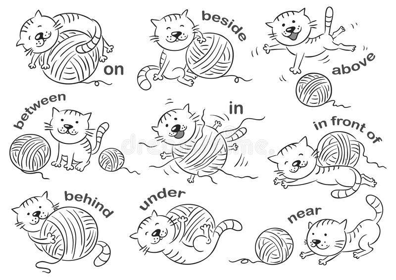 Prepositions Of Place Stock Vector Illustration Of