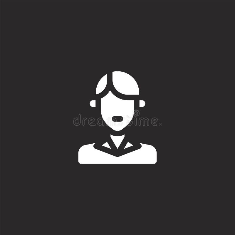 preppy pictogram Gevuld preppy pictogram voor websiteontwerp en mobiel, app ontwikkeling preppy pictogram van gevulde stedelijke  stock illustratie