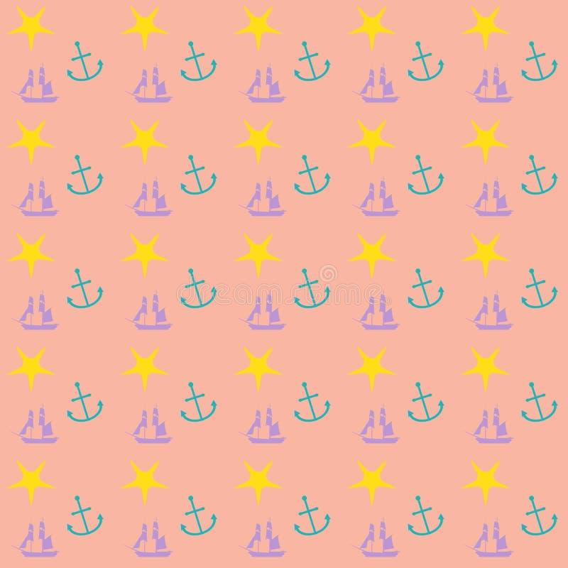Preppy zeevaartbehangpatroon vector illustratie