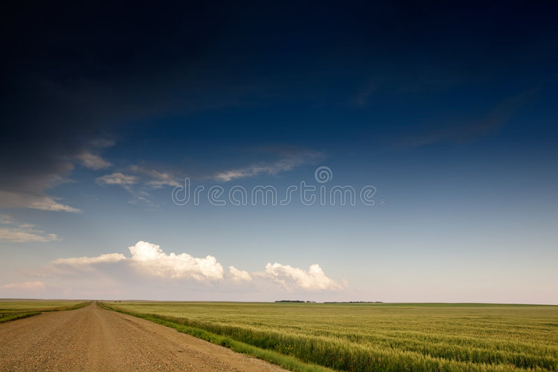 preryjna krajobrazowa burzy. zdjęcie royalty free