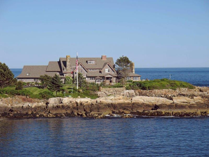 pres Bush sommarhem Kennebunkport Maine arkivfoto