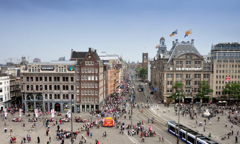 Presa Amsterdam cuadrada imagen de archivo