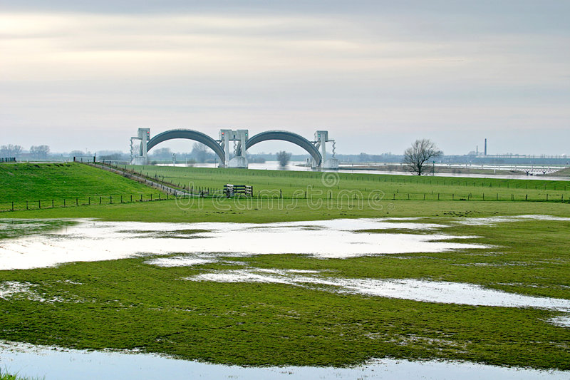 Presa de Driel (los Países Bajos) fotos de archivo