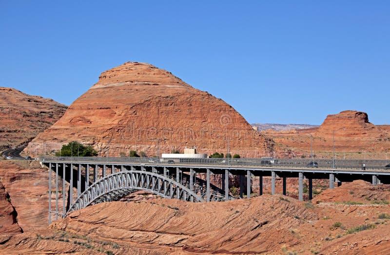Presa de Glen Canyon en la página, Arizona fotografía de archivo