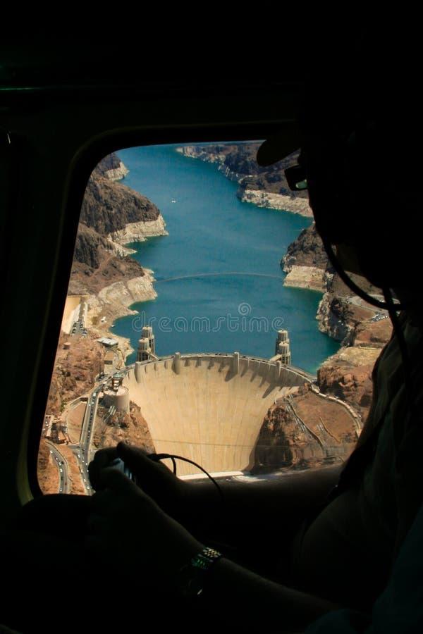 Presa Hoover aérea imagen de archivo