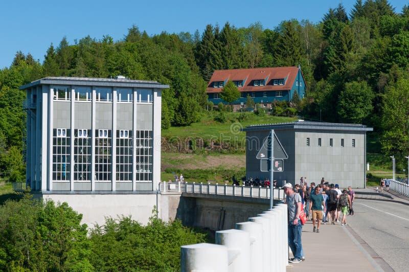 Presa de Rappbode en Alemania foto de archivo libre de regalías