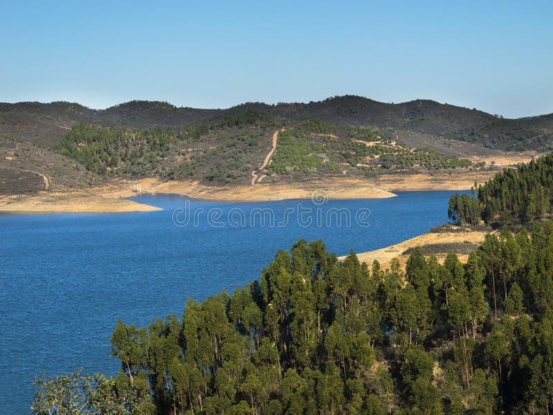 Presa de Santan Clara en Portugal foto de archivo libre de regalías