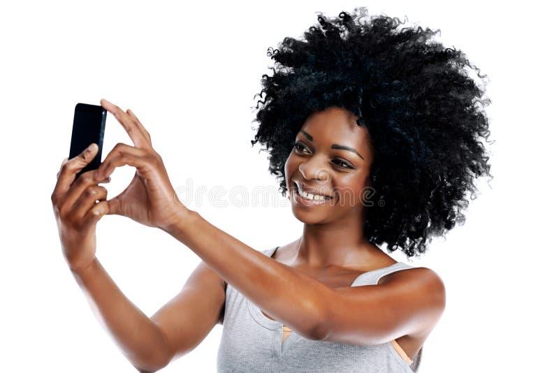 Presa dei selfies fotografie stock