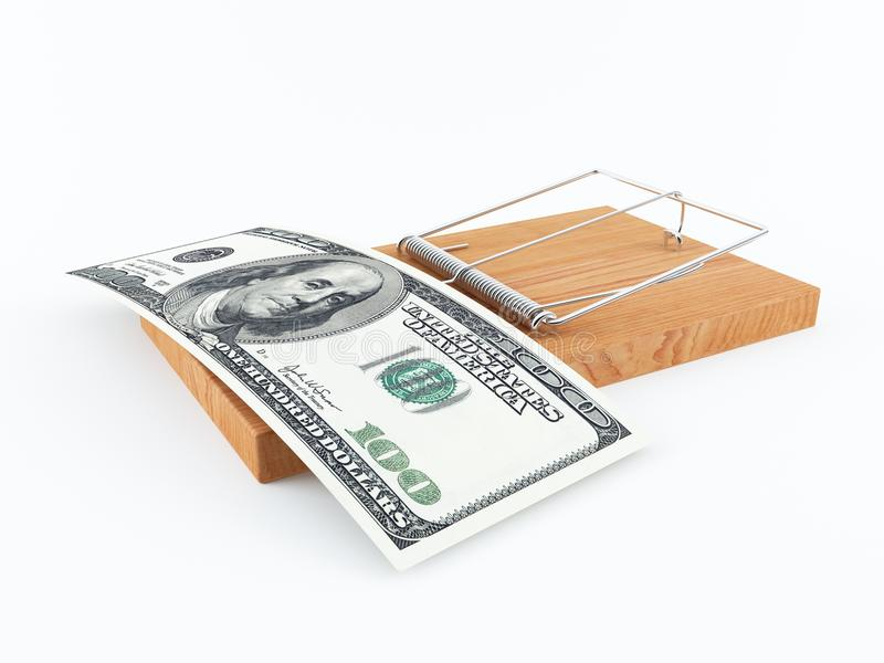 Presa dei soldi illustrazione di stock