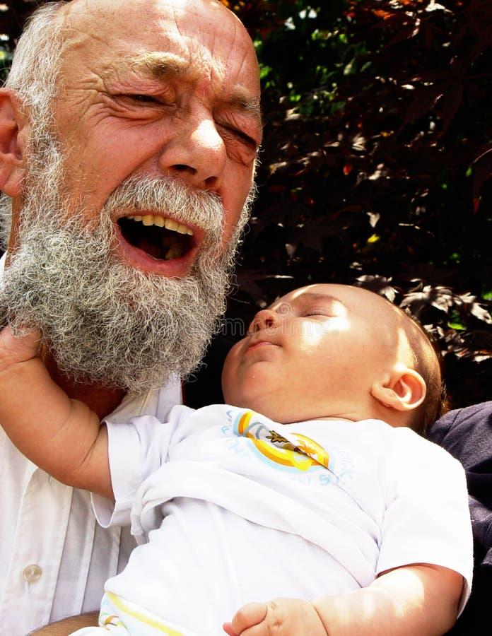 Presa Del Grandpa Fotografie Stock Libere da Diritti