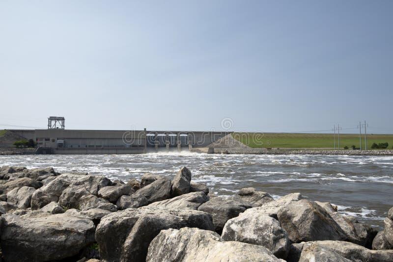 Presa del lago Truman, inundación imagen de archivo