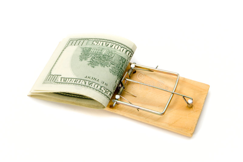 Presa del mouse con soldi immagini stock libere da diritti