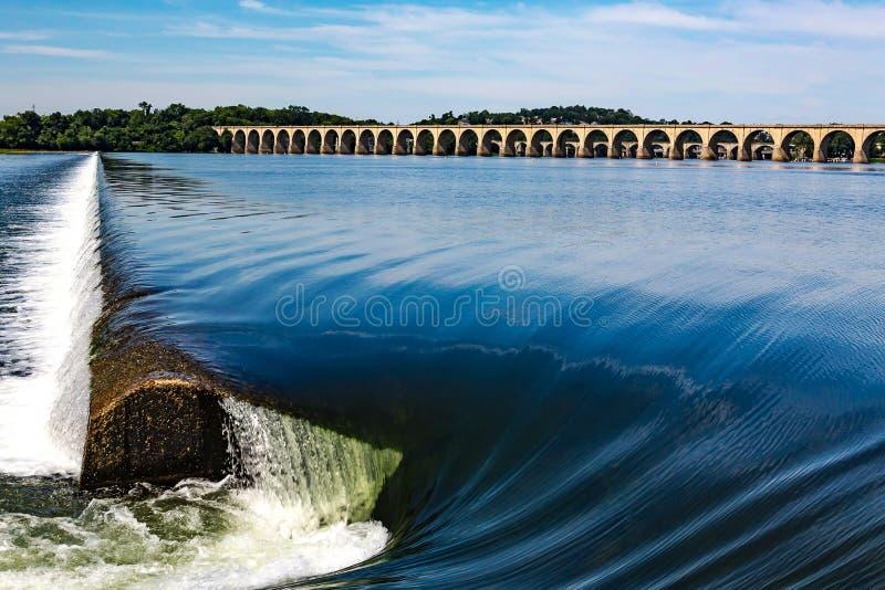 Presa del río Susquehanna en Harrisburg foto de archivo libre de regalías