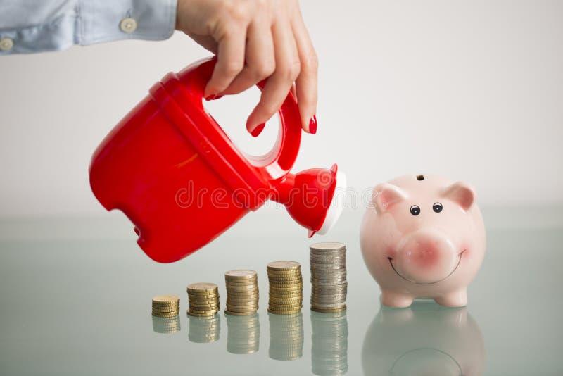 Presa della cura circa il vostro risparmio o fondo di investimento immagini stock