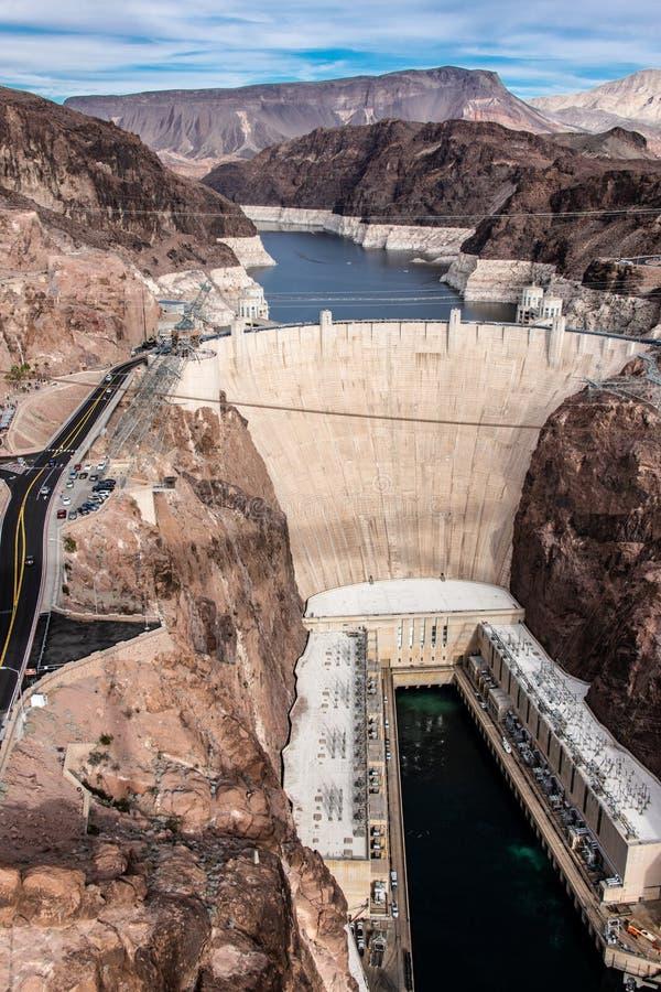 Presa Hoover una obra maestra arquitectónica en la frontera entre Nevada y Arizona fotografía de archivo libre de regalías