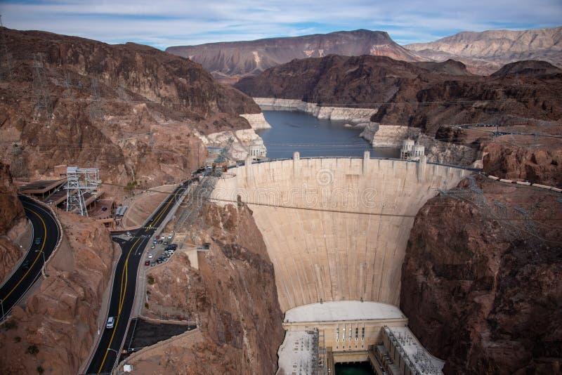 Presa Hoover una obra maestra arquitectónica en la frontera entre Nevada y Arizona imagenes de archivo