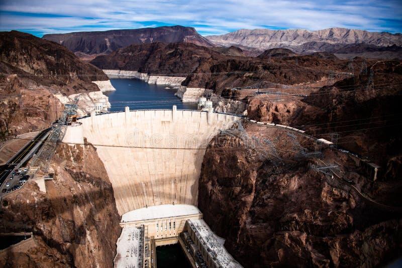 Presa Hoover una obra maestra arquitectónica en la frontera entre Nevada y Arizona fotos de archivo