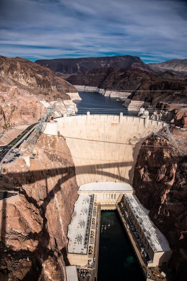 Presa Hoover una obra maestra arquitectónica en la frontera entre Nevada y Arizona fotos de archivo libres de regalías
