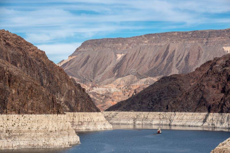 Presa Hoover una obra maestra arquitectónica en la frontera entre Nevada y Arizona imagen de archivo