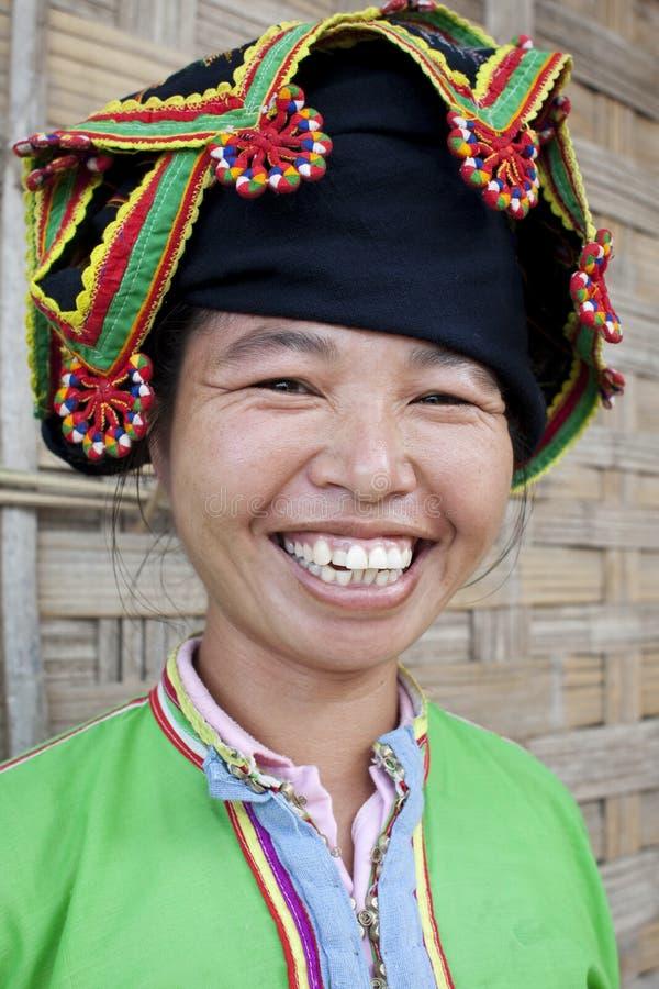 Presa tailandesa de las mujeres asiáticas del retrato, Laos fotografía de archivo libre de regalías