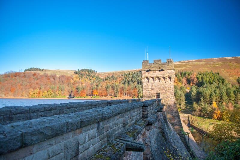 Presa y depósito, parque nacional del distrito máximo, Derbyshire, Reino Unido de Derwent imagen de archivo libre de regalías