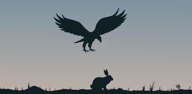 Presa y depredador ilustración del vector