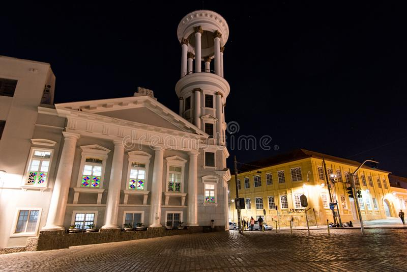 Presbyterianska kyrkan av Curitiba royaltyfri fotografi