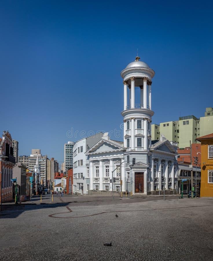 Presbyterianska kyrkan på Curitiba den historiska mitten - Curitiba, Parana, Brasilien arkivbilder