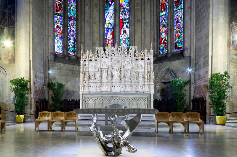 Presbytery of Arezzo Cathedral royalty free stock images