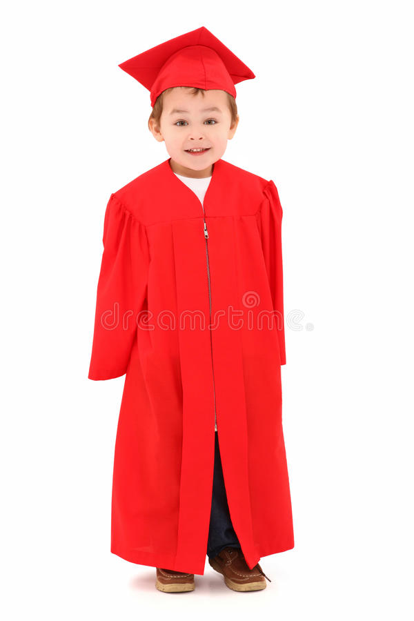 preschool студент-выпускника мантии крышки стоковое фото