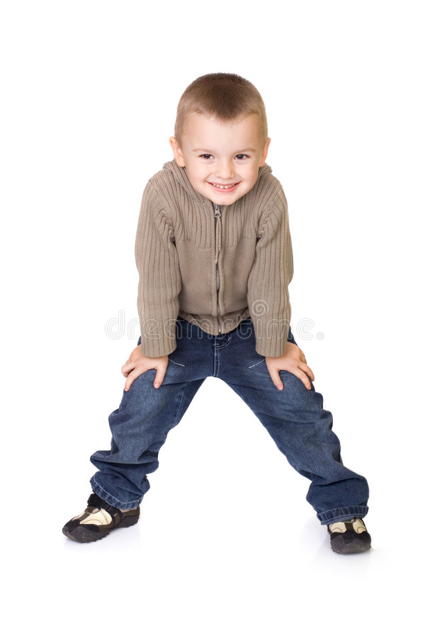 Preschool boy. Pre school boy posing for kids fashion show royalty free stock photo