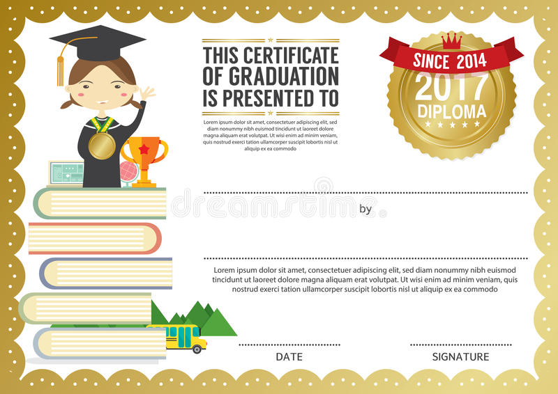 preschool elementary school kids diploma certificate background   preschool elementary school kids diploma certificate background stock vector image 75735274