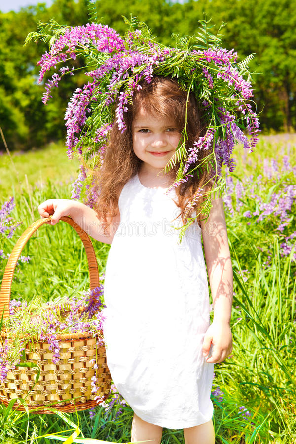 Download Preschool with headwreath stock photo. Image of headwreath - 19895474