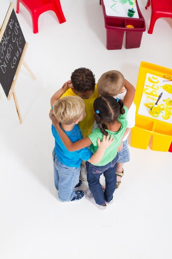 preschool huddle стоковые фотографии rf